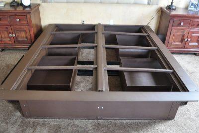 Pedestal Steel Bed Frame